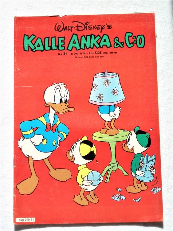 Kalle Anka&Co nr31 1976 mycket bra skick,med små defekter.