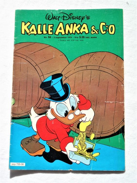 Kalle Anka&Co nr36 1976 mycket bra skick,med små defekter.
