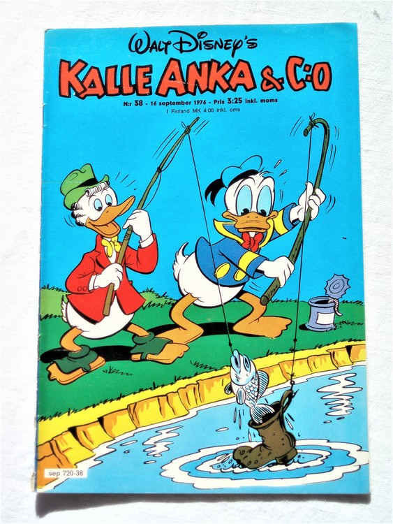 Kalle Anka&Co nr38 1976 mycket bra skick,med små defekter.