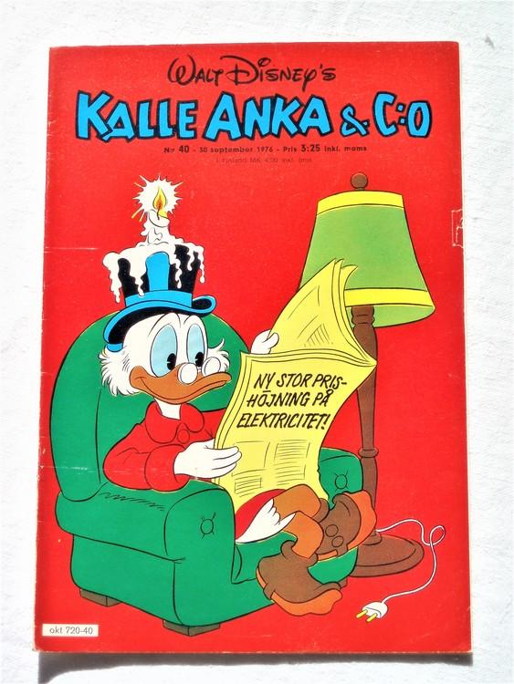 Kalle Anka&Co nr40 1976 mycket bra skick,med små defekter.