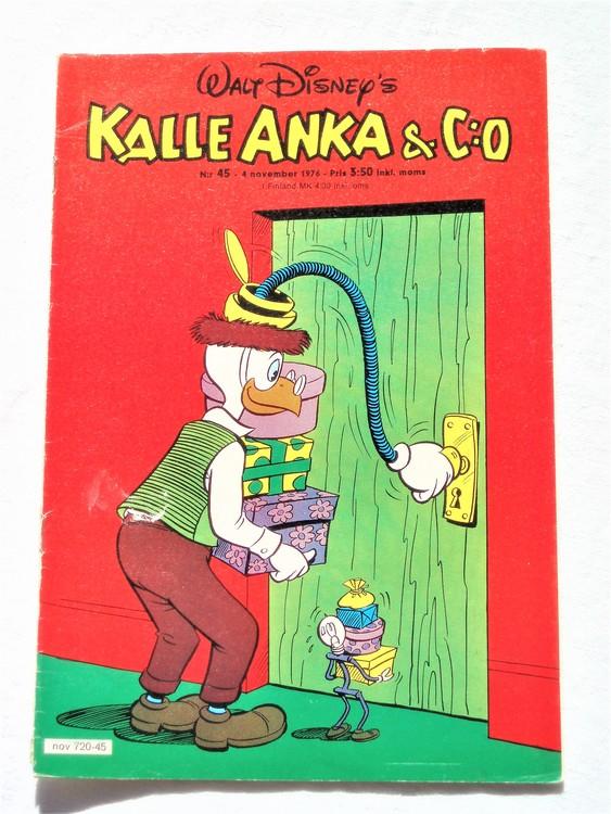 Kalle Anka&Co nr45 1976 mycket bra skick,med små defekter.