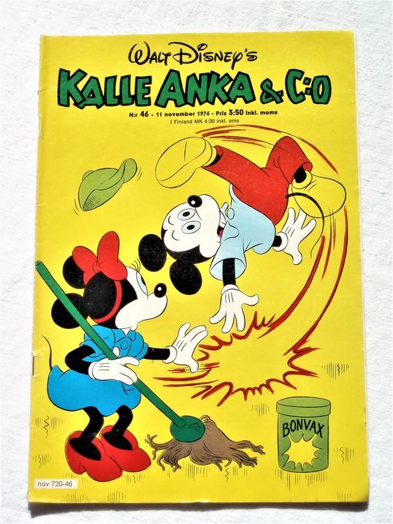 Kalle Anka&Co nr46 1976 mycket bra skick,med små defekter.