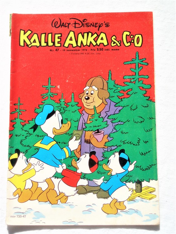 Kalle Anka&Co nr47 1976 mycket bra skick,med små defekter.
