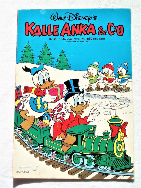 Kalle Anka&Co nr51 1976 mycket bra skick,med små defekter.
