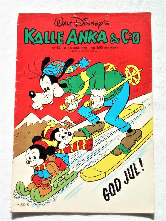 Kalle Anka&Co nr52 1976 mycket bra skick