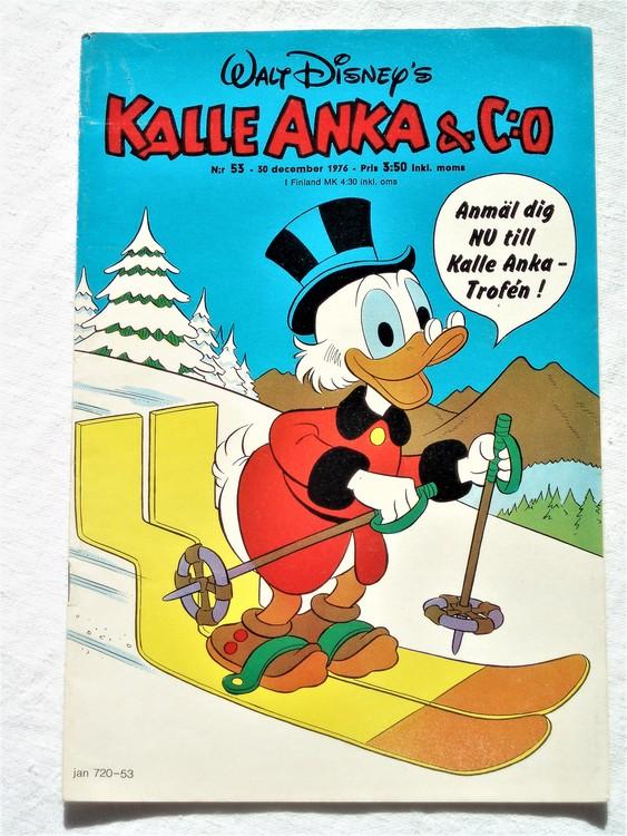 Kalle Anka&Co nr53 1976 mycket bra skick