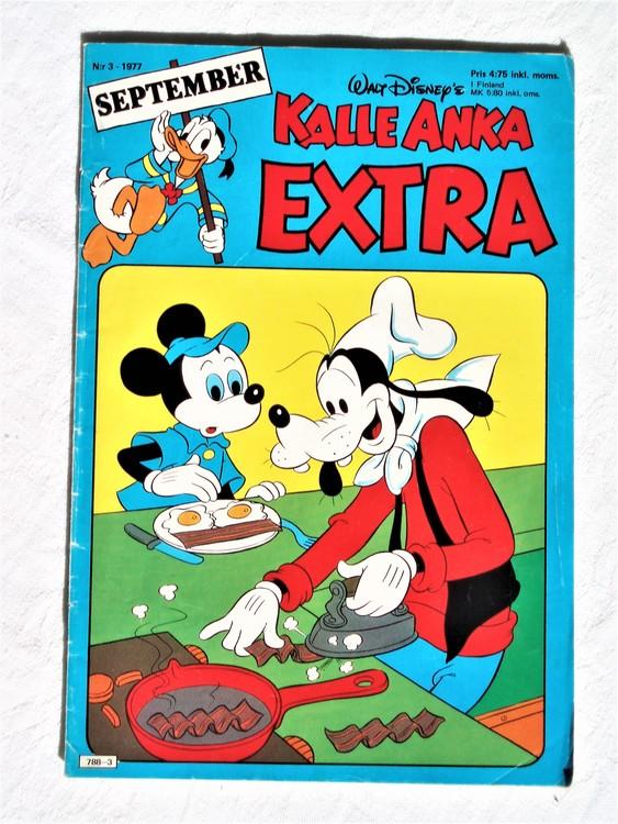 Kalle Anka Extra nr3  September 1977 mycket bra skick
