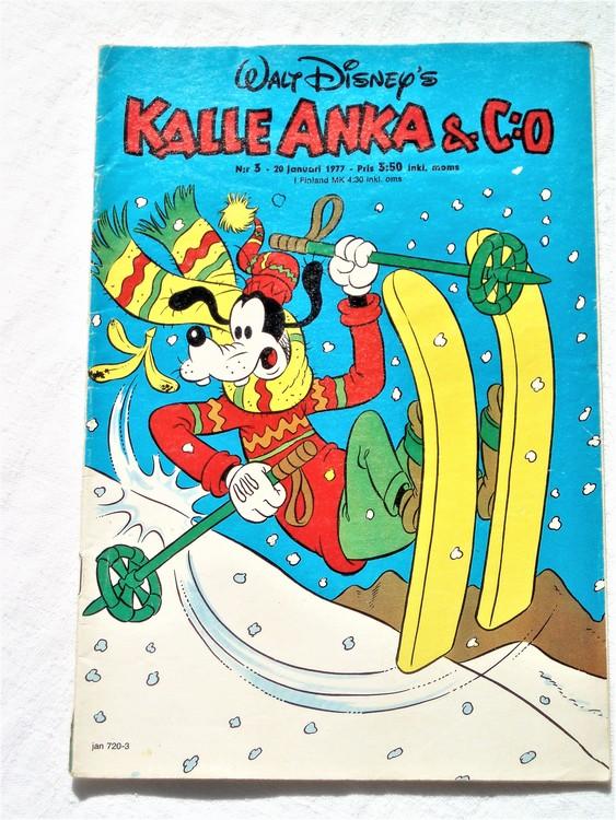 Kalle Anka&Co nr3 1977 mycket bra skick,adressetikett baksida.