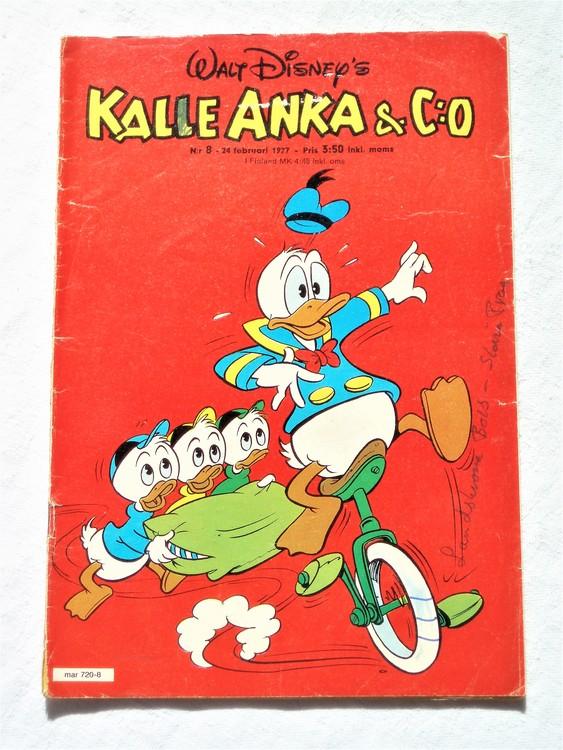Kalle Anka&Co nr8 1977 mycket bra skick.