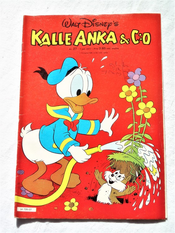 Kalle Anka&Co nr27 1977 mycket bra skick,adressetikett baksida.