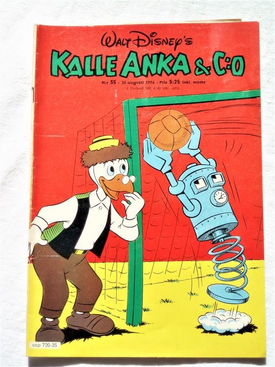 Kalle Anka&Co nr35 1976 mycket bra skick,med små defekter.
