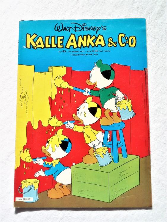 Kalle Anka&Co nr43 1977 mycket bra skick,addressetikett baksida.