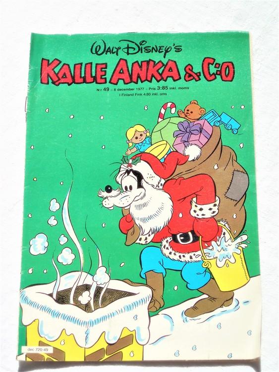 Kalle Anka&Co nr49 1977 mycket bra skick,adressetikett baksida.