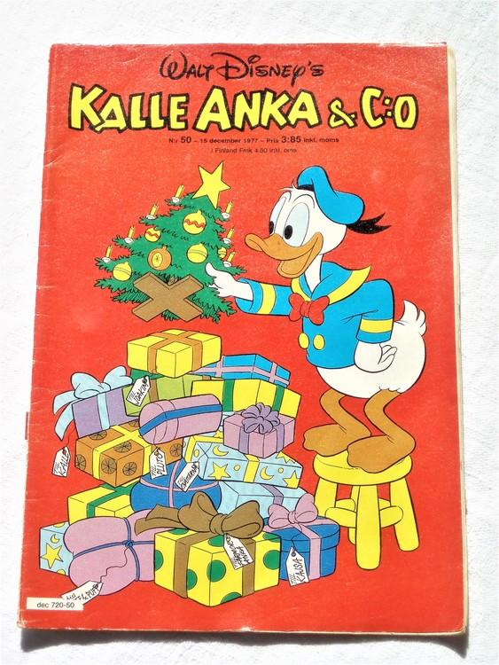 Kalle Anka&Co nr50 1977 mycket bra skick,adressetikett baksida.