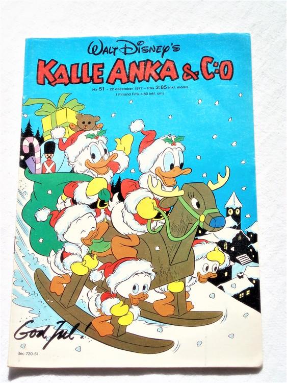 Kalle Anka&Co nr51 1977 mycket bra skick,adressetikett baksida.