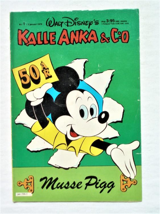 Kalle Anka&Co nr1 1979 mycket bra skick,adresstryck baksida,övrigt fin.
