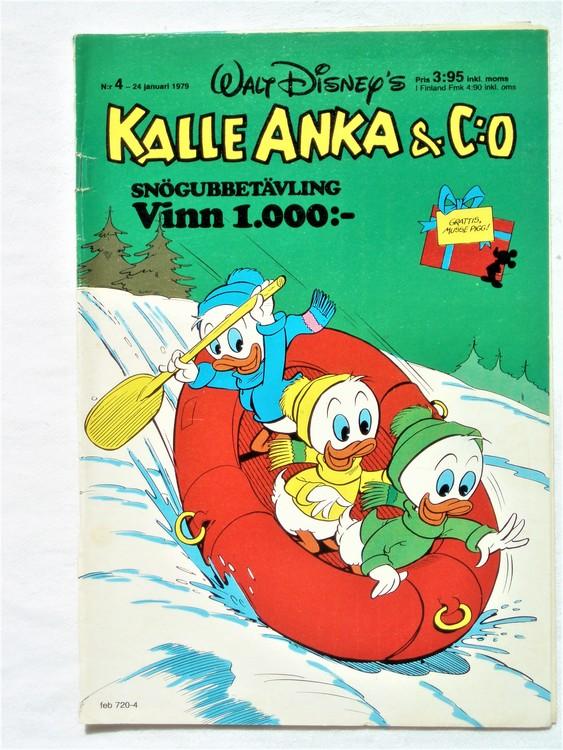 Kalle Anka&Co nr4 1979 mycket bra skick,adresstryck baksida,övrigt fin