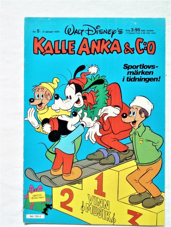 Kalle Anka&Co nr5 1979 mycket bra skick,adresstryck baksida,övrigt fin