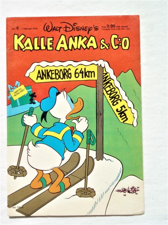 Kalle Anka&Co nr6 1979 mycket bra skick,adresstryck baksida,övrigt fin