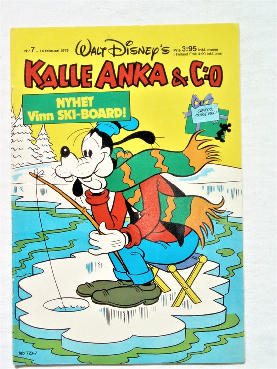 Kalle Anka&Co nr7 1979 mycket bra skick,adresstryck baksida,övrigt fin