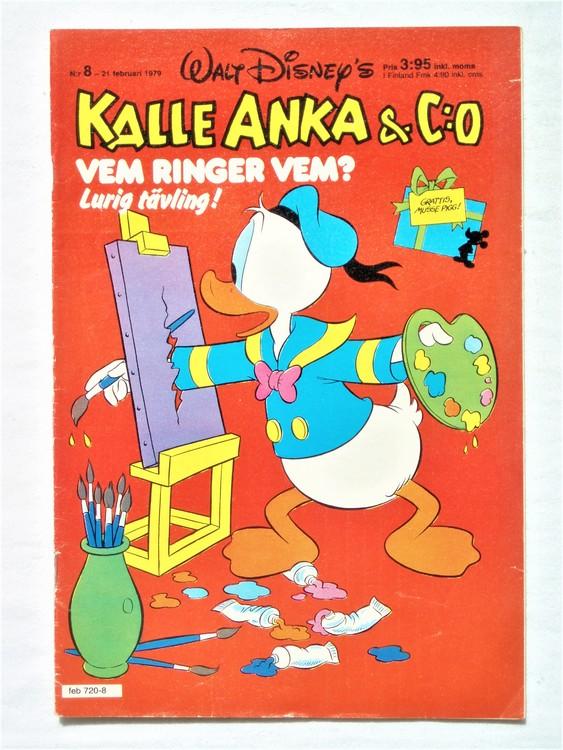 Kalle Anka&Co nr8 1979 mycket bra skick,adresstryck baksida,övrigt fin