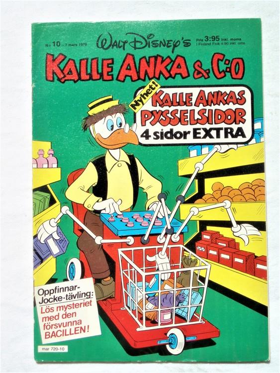 Kalle Anka&Co nr 10 1979 mycket bra skick,adresstryck baksida,övrigt fin