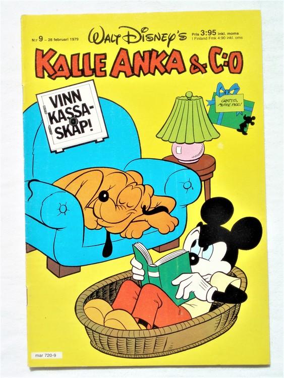 Kalle Anka&Co nr9 1979 mycket bra skick,adresstryck baksida,övrigt fin