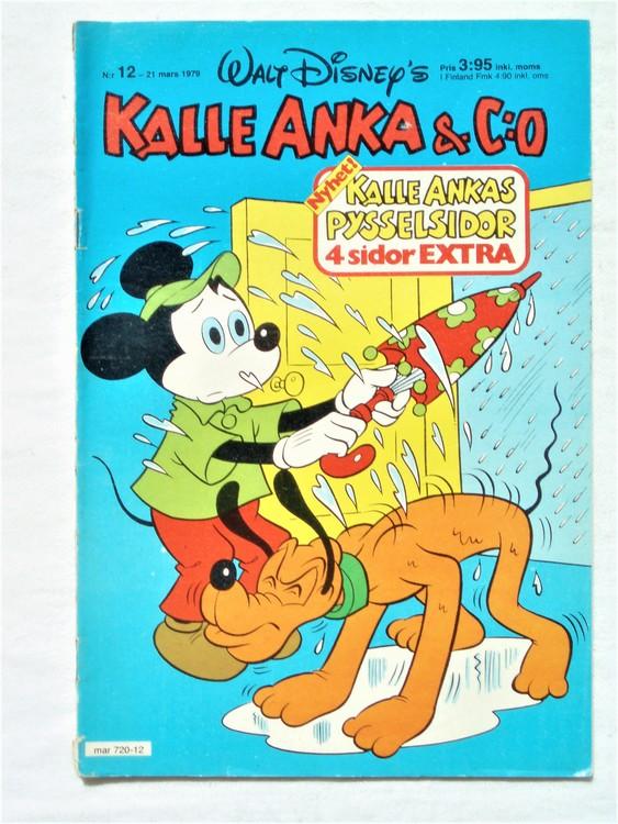 Kalle Anka&Co nr 12 1979 mycket bra skick,adresstryck baksida,övrigt fin