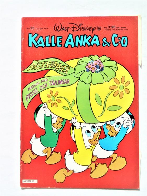 Kalle Anka&Co nr 15 1979 mycket bra skick,adresstryck baksida,övrigt fin.
