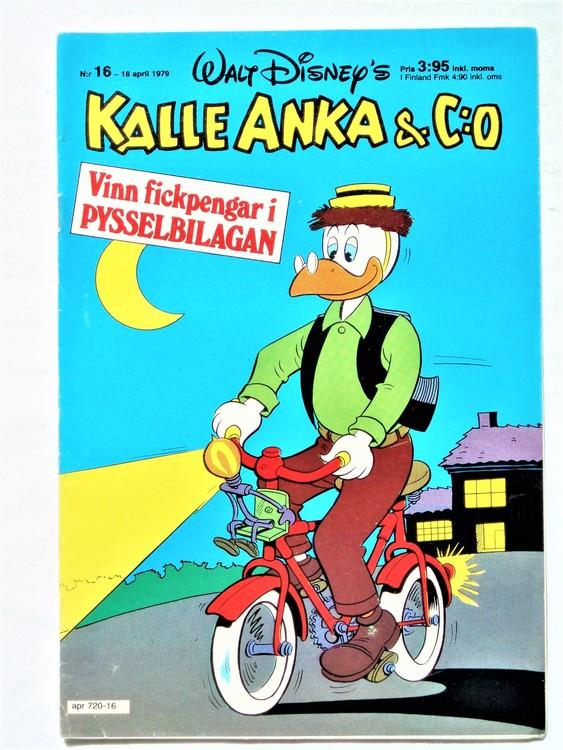 Kalle Anka&Co nr 16 1979 mycket bra skick,adresstryck baksida,övrigt fin