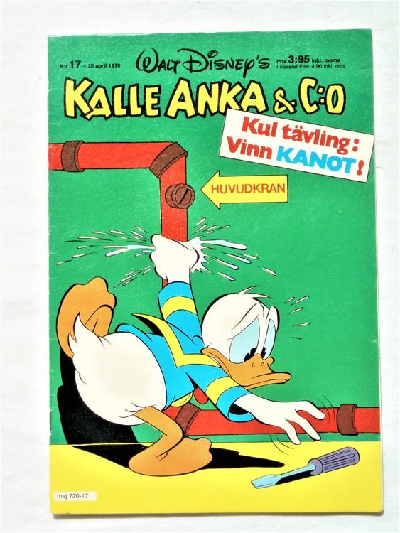 Kalle Anka&Co nr 17 1979 mycket bra skick,adresstryck baksida,övrigt fin