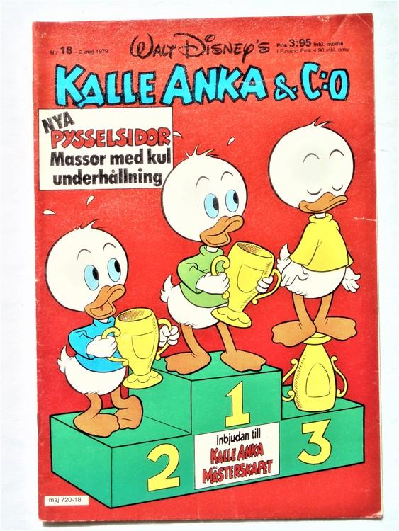 Kalle Anka&Co nr 18 1979 mycket bra skick,adresstryck baksida,övrigt fin