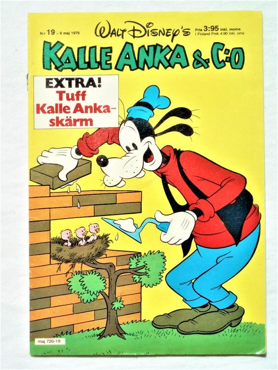 Kalle Anka&Co nr 19 1979 mycket bra skick,adresstryck baksida,övrigt fin