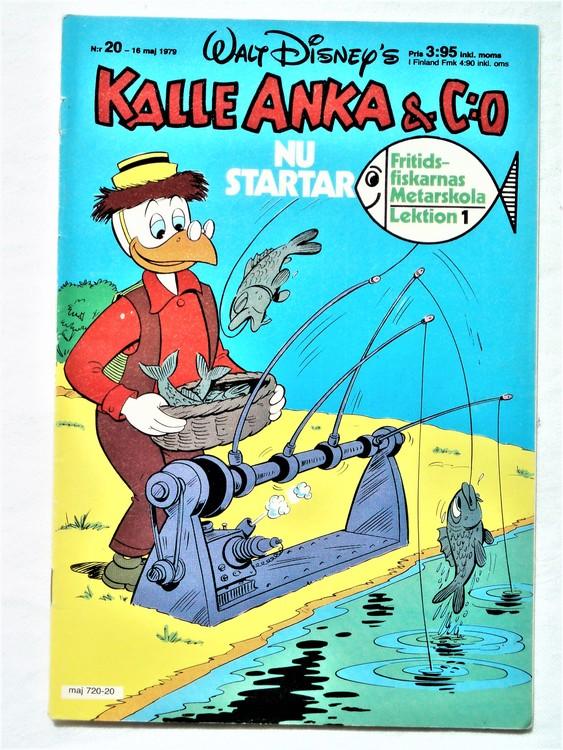 Kalle Anka&Co nr 20 1979 mycket bra skick,adresstryck baksida,övrigt fin