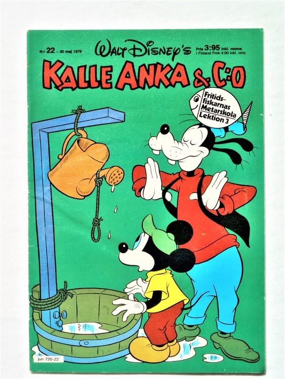 Kalle Anka&Co nr 22 1979 mycket bra skick,adresstryck baksida,övrigt fin