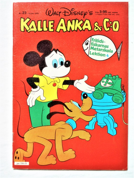 Kalle Anka&Co nr 23 1979 mycket bra skick,adresstryck baksida,övrigt fin