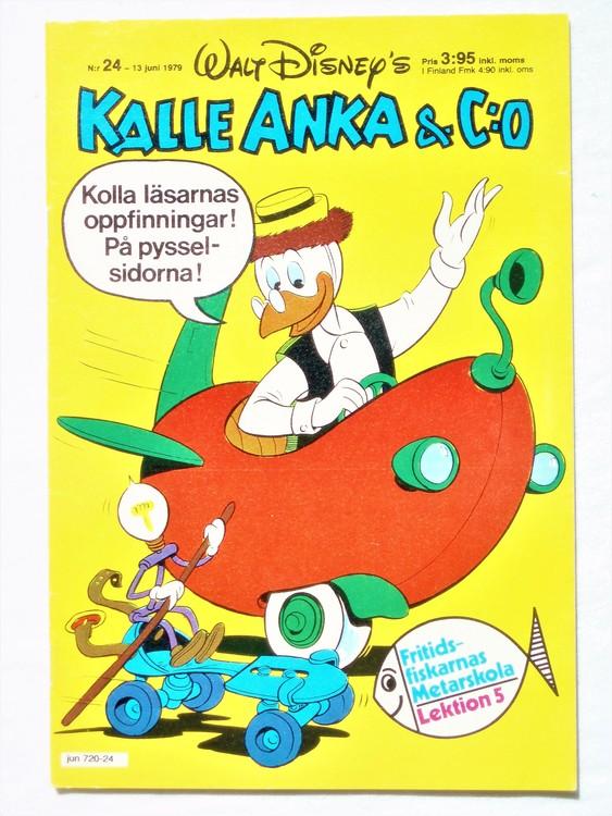 Kalle Anka&Co nr 24 1979 mycket bra skick,adresstryck baksida,övrigt fin