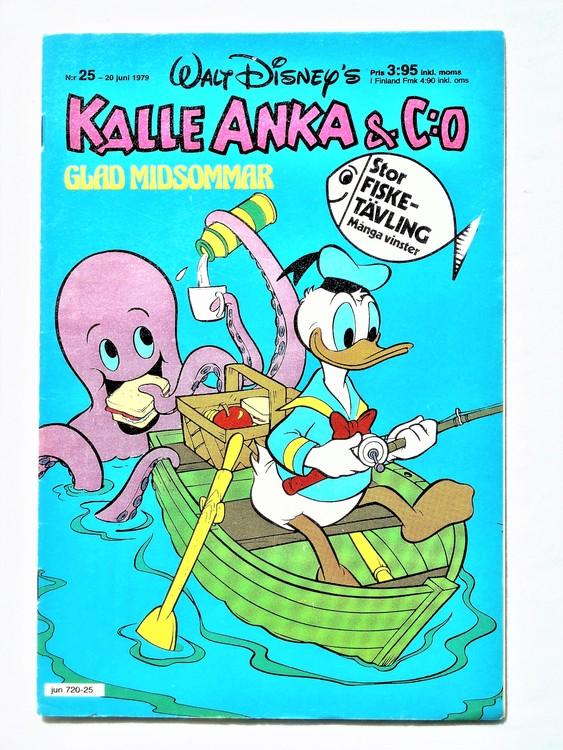 Kalle Anka&Co nr 25 1979 mycket bra skick,adresstryck baksida,övrigt fin