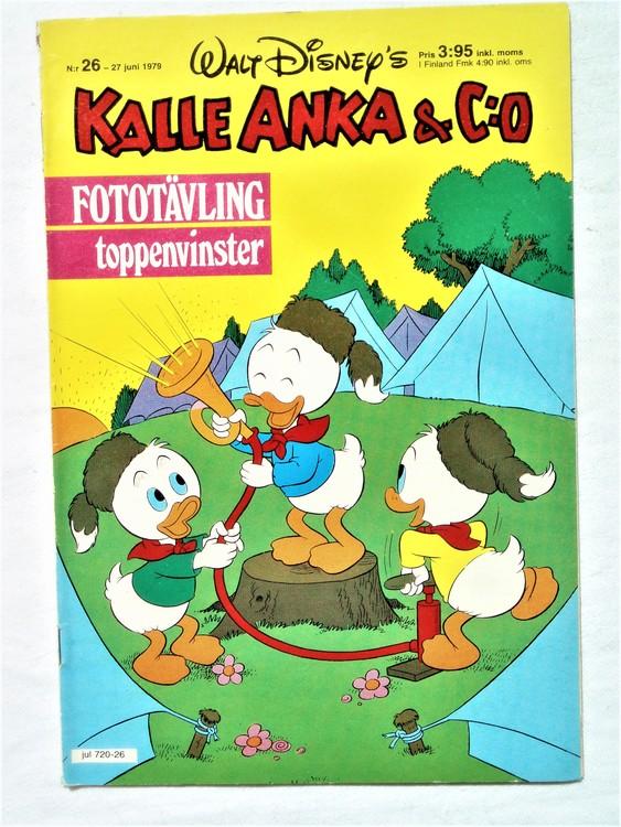 Kalle Anka&Co nr 26 1979 mycket bra skick,adresstryck baksida,övrigt fin