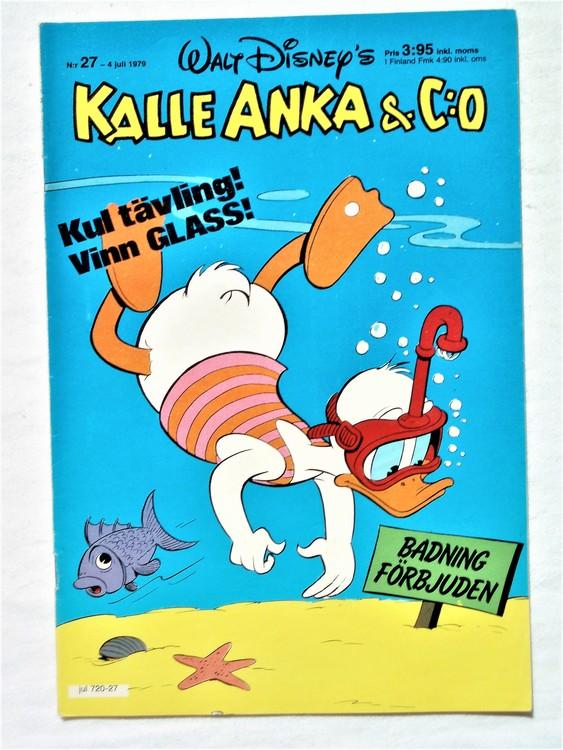 Kalle Anka&Co nr 27 1979 mycket bra skick,adresstryck baksida,övrigt fin