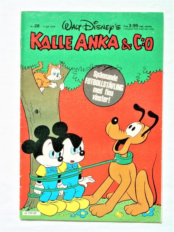 Kalle Anka&Co nr 28 1979 mycket bra skick,adresstryck baksida,övrigt fin