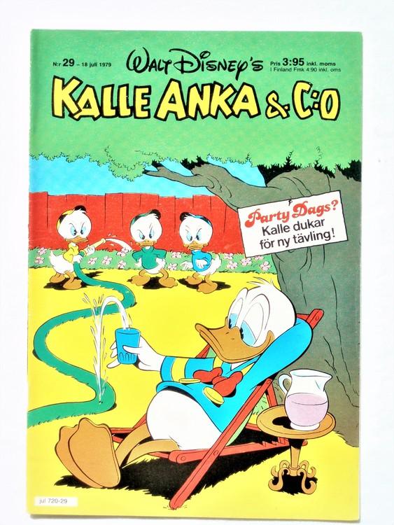 Kalle Anka&Co nr 29 1979 mycket bra skick,adresstryck baksida,övrigt fin