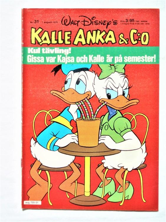 Kalle Anka&Co nr 31 1979 mycket bra skick,adresstryck baksida,övrigt fin