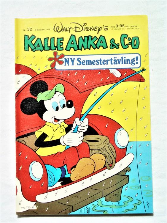 Kalle Anka&Co nr 32 1979 mycket bra skick,adresstryck baksida,övrigt fin