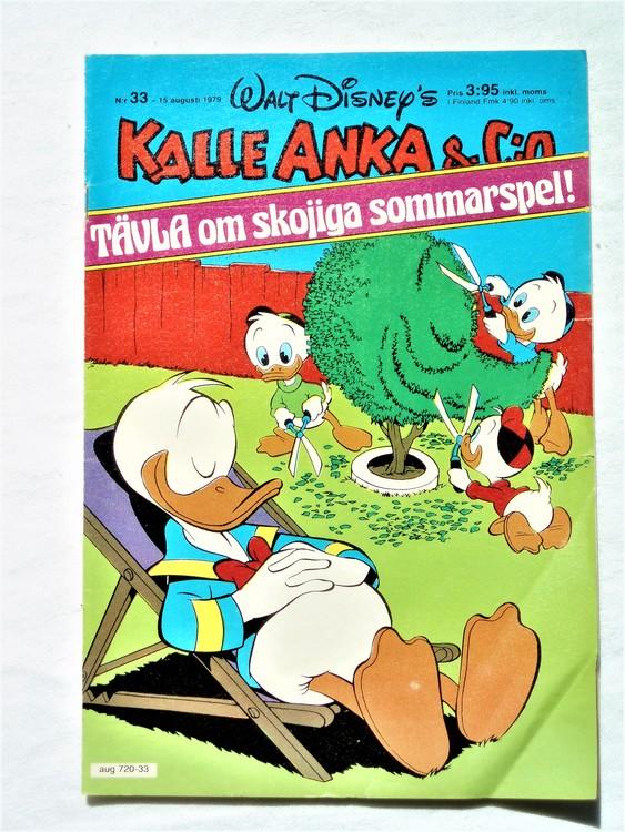 Kalle Anka&Co nr 33 1979 mycket bra skick,adresstryck baksida,övrigt fin