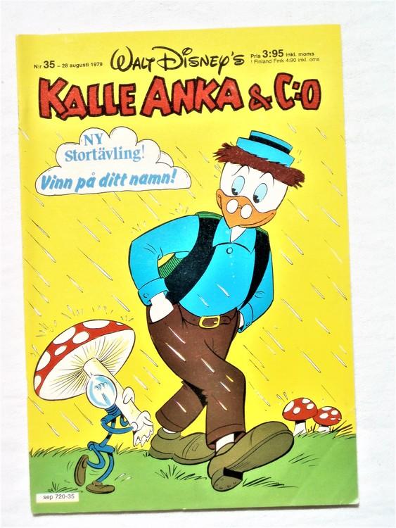 Kalle Anka&Co nr 35 1979 mycket bra skick,adresstryck baksida,övrigt fin