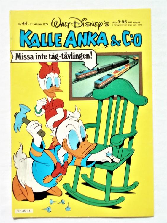Kalle Anka&Co nr 44 1979 mycket bra skick,adresstryck baksida,övrigt fin