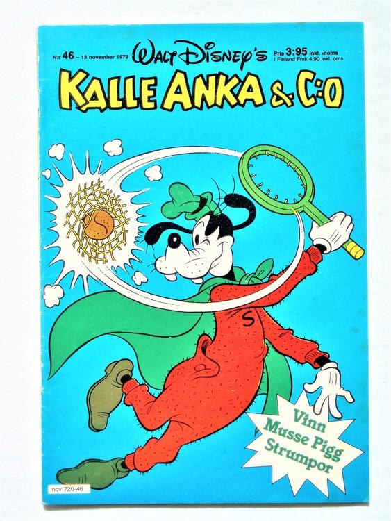 Kalle Anka&Co nr 46 1979 mycket bra skick,adresstryck baksida,övrigt fin