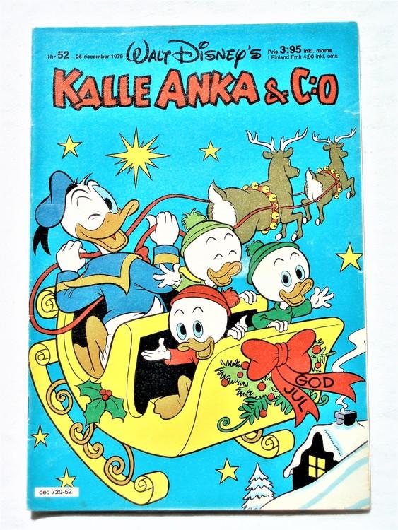 Kalle Anka&Co nr 52 1979 normalslitet,adresstryck baksida,övrigt fin