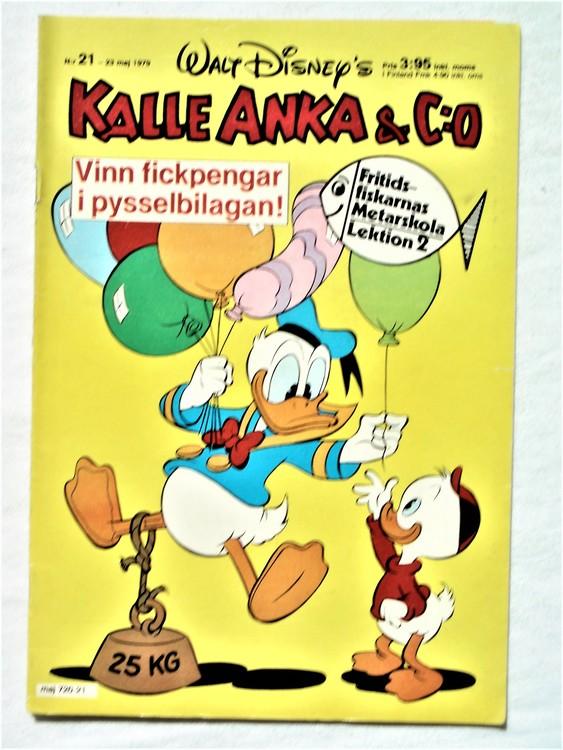 Kalle Anka&Co nr 21 1979 mycket bra skick,adresstryck baksida,övrigt fin